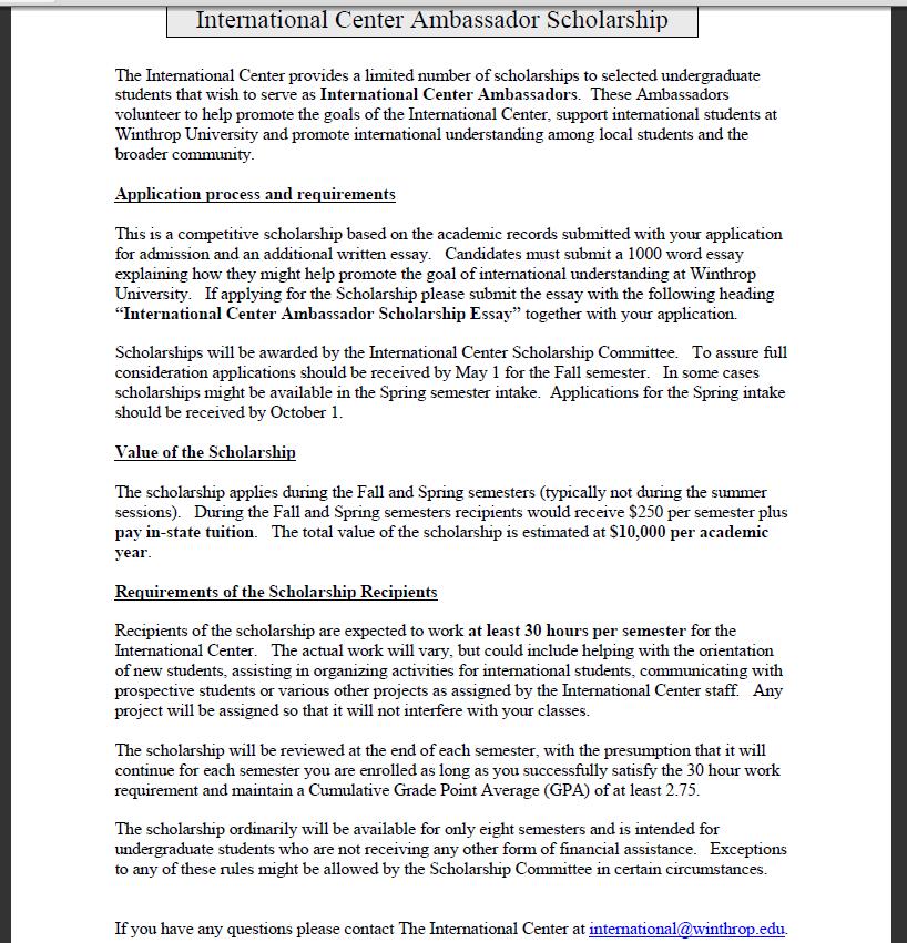 Yygs essays for scholarships