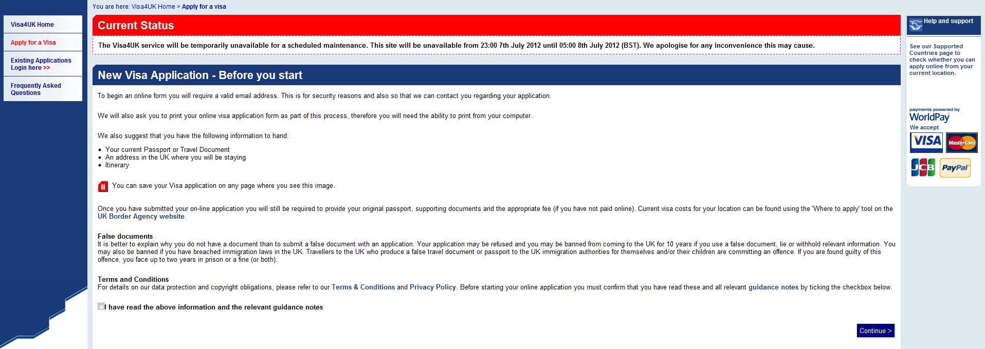 www visa4uk fco gov uk existing application